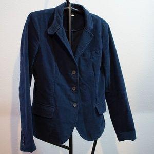 J. Crew Navy Button Collar Blazer Size Medium